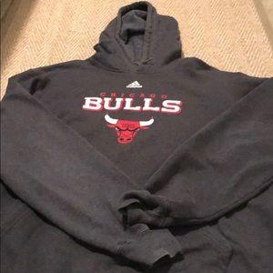 Go Bulls!!  Adidas Chicago Bulls Gray sweatshirt!